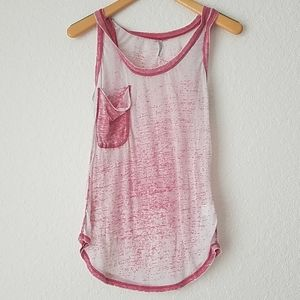 Z Supply Faded Red Super Soft Tank Top